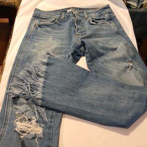 Zara fray bottom jeans